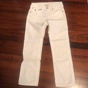Girls white True Religion straight-leg jeans